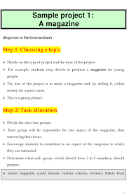 Magazine Project Outline Template Printable Pdf Download