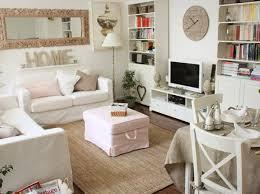 white shabby chic living rooms