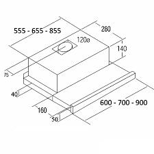 Máy Hút Mùi Âm Tủ Cata TF 2003 Duralum - 700 kích thước nhỏ gọn, sử dụng  đơn giản, tiện lợi