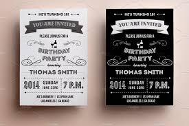 Birthday Invitation Flyer Template Retro Birthday Invitation Invitation Templates Creative Market 18