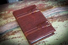 custom made bison leather book cover or cover