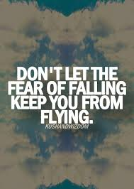 Don't Let The Fear Of Falling Keep You From Flying Favorite Beauteous Flying Quotes