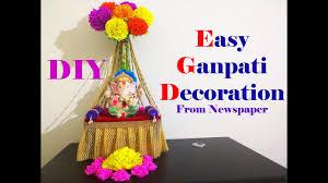 easy ganesh decoration ideas at home diy youtube