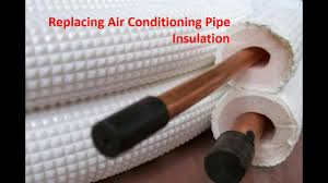 air conditioning pipe insulation. replacing air conditioning pipe insulation i
