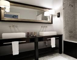 contemporary double sink bathroom
