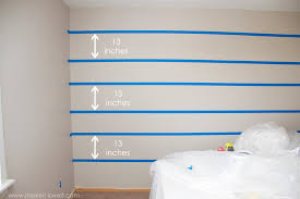 Stripe painted walls Interior How To Paint super Straight Horizontal Lines Make It And Love Make It And Love It How To Paint super Straight Horizontal Stripes Make It And Love It