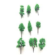 100pcs/lot architecture N scale model green tree in 6cm for ho train ...