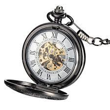 25 best ideas about mechanical pocket watch pocket nice mudder® classic steampunk r dial mechanical skeleton steel mens black windup pocket watch