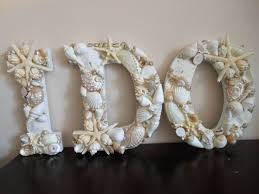 Beach Wedding Accessories Decorations Beach Wedding Decor Seashells Seashell Letters Beac 12