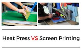 Heat Press Vs Screen Printing The Actual Difference