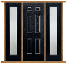 6 panel front doors 6 panel black front door with frosted sidelights 6 panel glass front