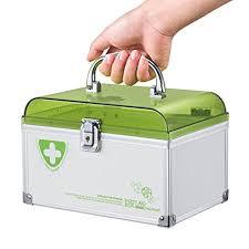 lockable medicine box. Delighful Medicine Glosen First Aid Box Lockable Medicine Storage With Child Safe Lock  846u0026quotx5 Intended