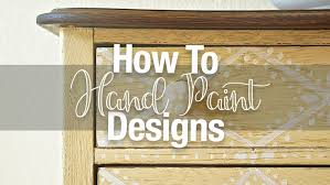 painting designs on furniture. I Like To Add Hand-painted Details Every Now And Then When A Piece Needs Little Extra \u201cwow.\u201d Stenciling On Design Using Pre-fab Stencil Can Also Give Painting Designs Furniture N