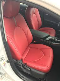 2018 2019 toyota camry le se katzkin red factory style leather seat covers 4