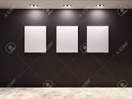 black wall art gallery