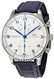 17 best ideas about nice watches men s watches iwc portuguese chronoautomatic steel blue mens watch iw371417 cuff watch nice watches for men