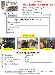 acnm heo rodeo career fair at ace leadership hs thank you dino franco chst csho ssh acnm safety training director office 505 633 6258 direct line cell 505 440 1636