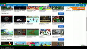 game on the front page on ROBLOX ...