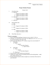 Apa Style Research Paper Template An Example Of Outline Format In