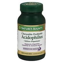Nature's Bounty <b>Acidophilus</b> with <b>Bifidum Chewable</b> Probiotic ...