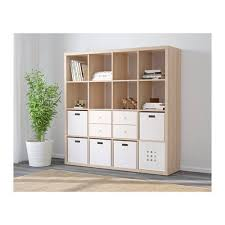 ikea kallax shelving unit 147x147cm white stained oak effect previous