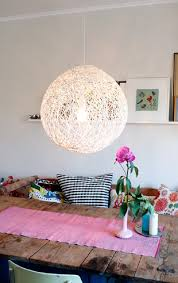 view in gallery diy white yarn chandelier made with balloon