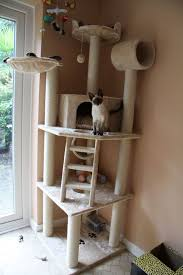 diy cat house diy outdoor cat house for winter cardboard box cat fort cool carpeted cat tree plans