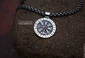 рунический компас Vegvisir указатель пути Brun руна морская руна заказать на