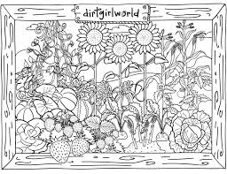 Match the vegetables to the pages of the vegetable book you're reading. Flower Garden Coloring Pages Carinewbi