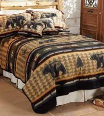 rustic luxury bedding.  Rustic Wooded River Bear Suite Fever Bedding  For Rustic Luxury
