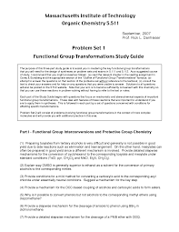 Functional Group Transformations Study Guide Exercises Organic
