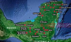 ancient lost mayan city discovery found by teen boy (15) may just Mayan Cities Map map indicating where mayan city would be (credit the national) mayan city map