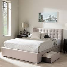 Image of: Modern Queen Platform Bed with Storage