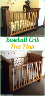 diy baby furniture. DIY Baseball Wood Crib Instruction - Baby Projects [Free Plans] Diy Furniture