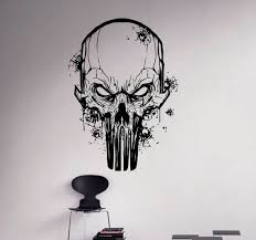 punisher skull wall decal vinyl sticker