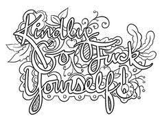 20 New Free Printable Coloring Pages For Adults Only Swear Words
