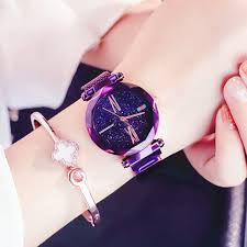 Magnet Watch Starry Sky <b>Korean Version</b> Simple <b>Fashion</b> Trend ...