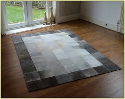 grey cowhide patchwork rug