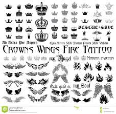 Tattoo Set Stock Vector Illustration Of Freedom Gothic 48769344