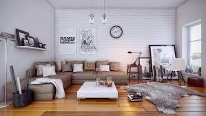 Living Room Furniture Oak Comfy Gray Sofa Oak Texture Floor Brown Cream Laminated Wooden