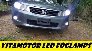 2008 Honda Accord Coupe Fog Light Kit 2008 8th Gen Honda Accord 1400 Lm Led Foglamp Install From Yitamotor