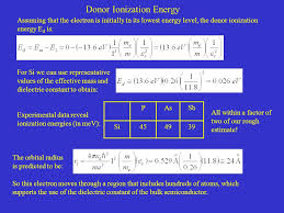 donor ionization energy