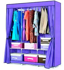 covered wardrobe rack clothing with cover clothes covers for closets great fabric closet door makeover