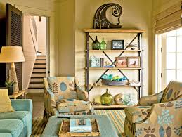beige and blue decor