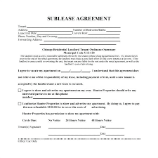 Sample Sublease Agreement Free Sublease Agreement Template Sample Lease Residential