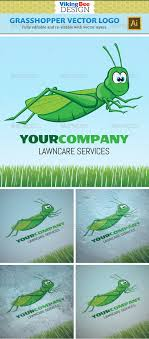 grasshopper logo template by vikingbeedesign graphicriver grasshopper logo template animals logo templates