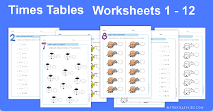 times tables worksheets pdf