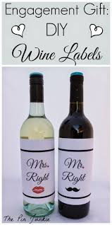 Design Your Own Wine Bottle Labels Engagement Gift Diy Wine Labels