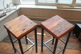 wood metal bar stools. Reclaimed Pine On Metal Square Bar Stools By Vermontfarmtable Eclectic And Counter Wood D