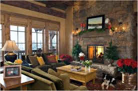 Christmas Decorations For Kitchen Kitchen Christmas Decorations Brown Fireplace Granite Fireplace